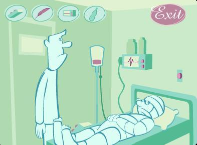διαδραστικό παιχνίδι με θέμα την επίσκεψη σε νοσοκομείο