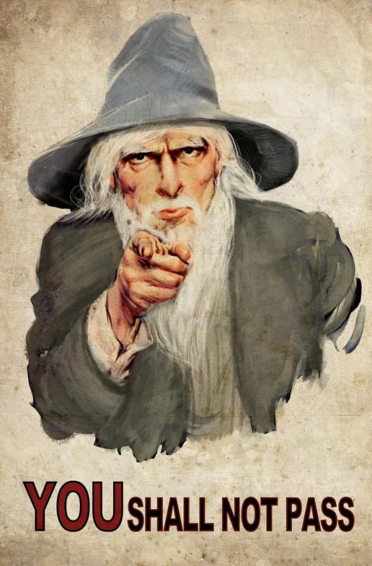 Gandalf lord of the rings you shall not pass