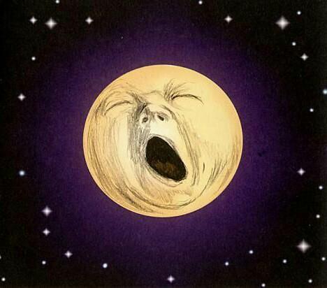 Φεγγάρι που χασμουριεται.  νυχτερινη βαρδια νοσηλευτών Ειδικευομένων ιατρων. eidikeyomenoi eidikeuomenoi