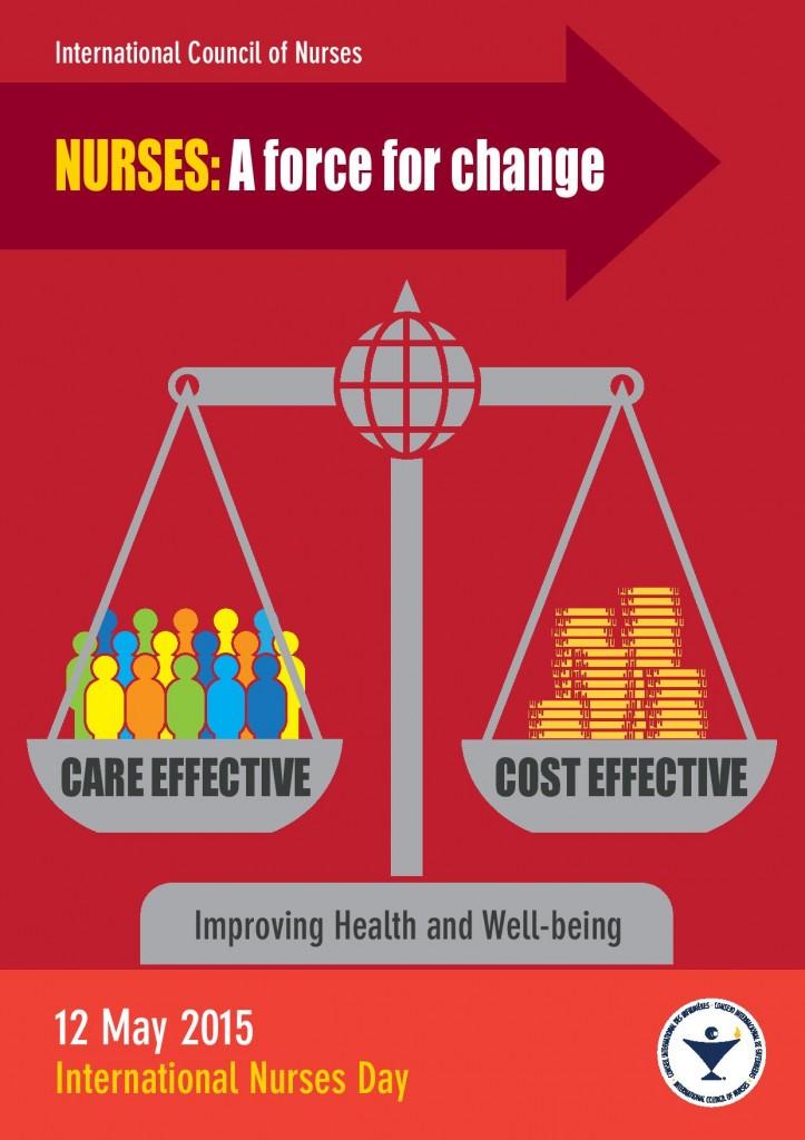αφίσα παγκόσμιας ημέρας του νοσηλευτή.