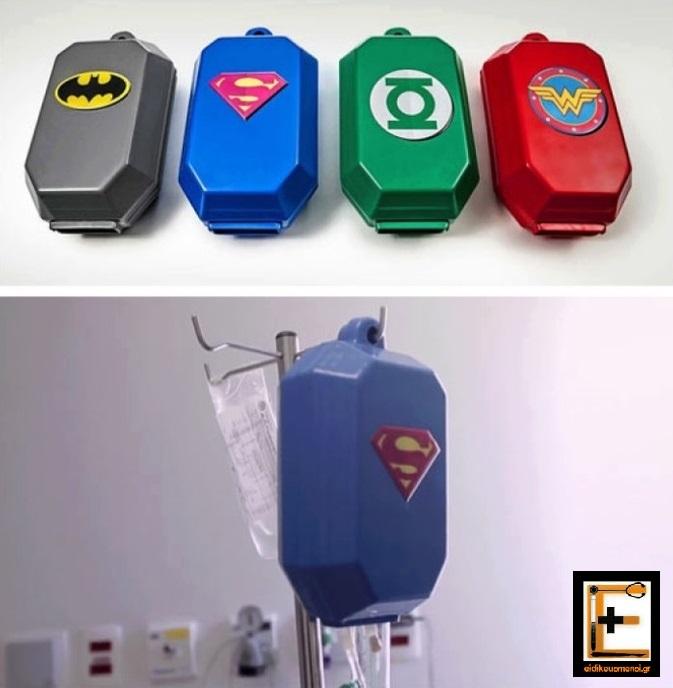 Χημειοθεραπεία σε κουτί κάλυμμα με υπερήρωες, batman, superman, green lantern, wonder woman