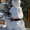Χιονάνθρωπος δρομέας. Όταν πας γυμναστήριο και σου λένε να βάλεις πάγο εκεί που πονάς